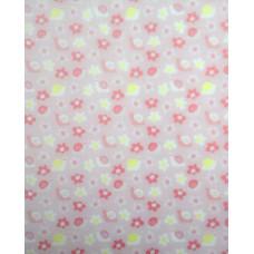 Калька BEBY, розовая, мотив Цветочки и улитки, 115г. (UR-53364604R)