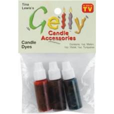 Жидкий краситель для гелевых свечей - Фиолетовый, бирюзовый,желто-оранжевый (33217)