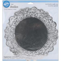 Cалфетки из фольги, серебрянные 30см (W2104-9-0412)