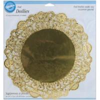 Cалфетки из фольги, золотые 30см (W2104-9-0312)