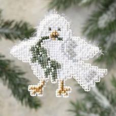 Набор для вышивания Mill Hill Пушистый голубь (MH189304)