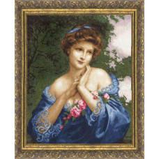 Набор для вышивания крестиком Золотое руно Летняя роза (МК-011)