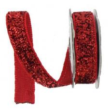 Лента с люрексом, красный (482844)