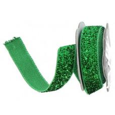 Лента с люрексом, зеленый (482943)