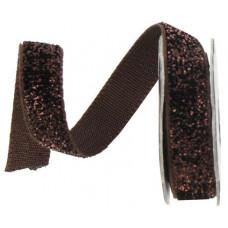Лента с люрексом, коричневый (483024)