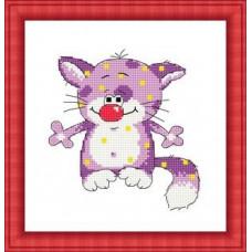 Набор для вышивания крестиком Сделано с любовью А мне фиолетово (ШМ-011)