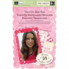 Набор бумаги Valentine Die-Cut Mat Pad (599239)