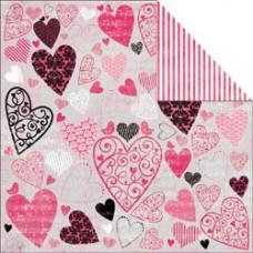 Лист бумаги 30х30 Love Notes Dedicate (P603) (054)