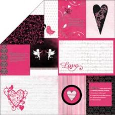 Лист бумаги 30х30 Love Notes Affection (P609) (056)