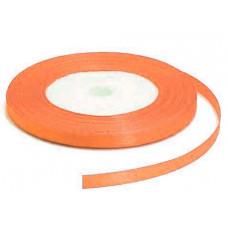 Атласная лента, средне-оранжевая, 6мм