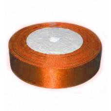 Атласная лента, оранжевая, 25мм