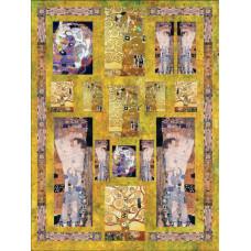 Декупажная карта Климт (картины Мадонна,Поцелуй, орнаменты и т.д.)(KR-740020-77)
