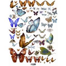 Декупажная карта  Бабочки (ЕВ-Д018)