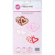 Формы для леденцов и конфет Двойное сердце (W4440)