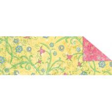 Калька Парадис , желтый, мотив Мелкие цветочки (UR-77194602R)