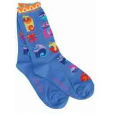 Носочки Laurel Burch, Feline Festival -Blue (SOCKS-1056U)