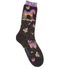 Носочки Laurel Burch, Mythical Mares-Black (SOCKS-1071)