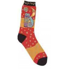 Носочки Laurel Burch, Celestial Cat-Orange (SOCKS-1073)