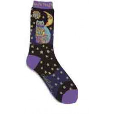 Носочки Laurel Burch, Celestial Cat-Black (SOCKS-1073P)