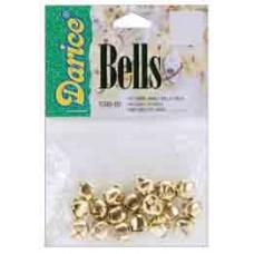 Набор бубенчиков, золото, 1 см (109002)