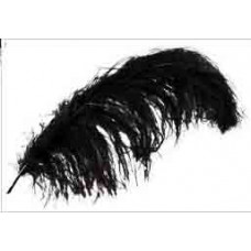 Перо черное, Ostrich Plume Feathers (MD38166)