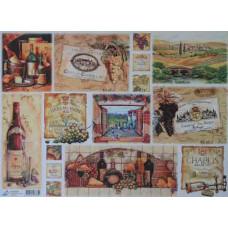 Декупажная карта Вино, офс. 60Г/М2 (ДП-БУМА-4455/6885)