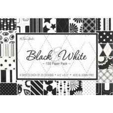 Набор бумаги Черно-Белый 12х17см (168823)