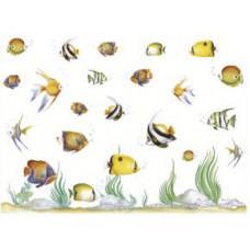 Бумага рисовая Рыбки (аквариум) (DC-5025)