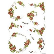 Бумага рисовая Ампельные розы (DC-5020)