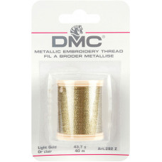Металлизированная нить (светлое золото), 40м (282Z)