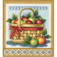 Корзинка с яблоками (Н-1151)