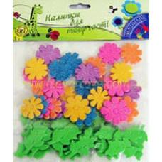 Высечки с глитером Цветы (К23)