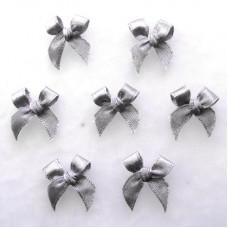 Бантики из ленты, серый (RB00149)