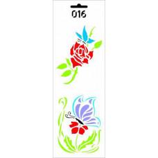 Трафарет Бабочки на цветке (ДП-Т-016)