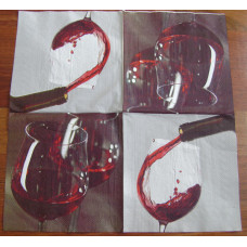 Салфетка Бокал вина (052)