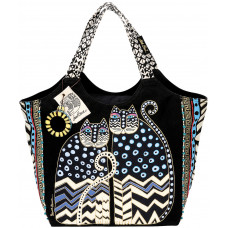 Сумка Laurel Burch Large Scoop Tote, Spotted Cats (LB4310)