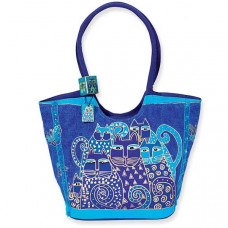 Сумка Laurel Burch Scoop Tote, Indigo Cats (LB412)