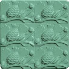 Форма для мыла (под нарезку) Сосновые шишки (TR-PINEC1152)