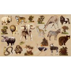 Бумага для декупажа Африканские животные (KR-B8021)