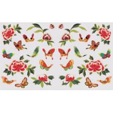 Бумага для декупажа Цветы и бабочки (KR-B8117)