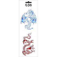 Трафарет Два дракона (ДП-Т-038)