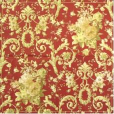 Салфетка Золотой узор 'Антуанетта' на темном красном фоне (IHR-L 20711) (068)