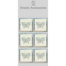 Аксессуары бумажные Бабочки серебрянные (UR-564000120)
