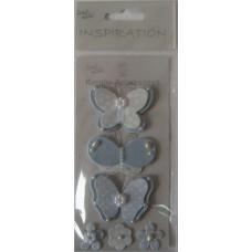 Аксессуары бумажные ДЖИНСОВКА-СИТЧИК, бабочки, голубой (UR-564000502)