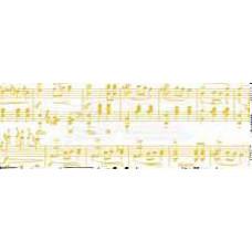 Калька Ноты, белый/золото, 115 г. (UR-50314602R)