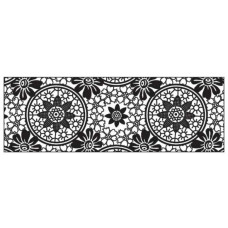 Картон черно-белый, Тамбурный декор, 220 гр. (UR-60364605R)