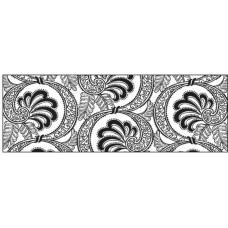 Картон черно-белый, Веер, 220 гр. (UR-60364609R)
