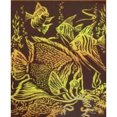 Набор для выцарапывания Тропические рыбы (950349)
