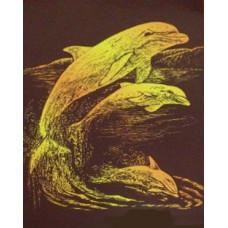 Набор для выцарапывания Дельфины (950354)
