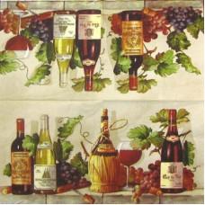 Салфетка Вино и виноград (IHR-L 24360) (087)